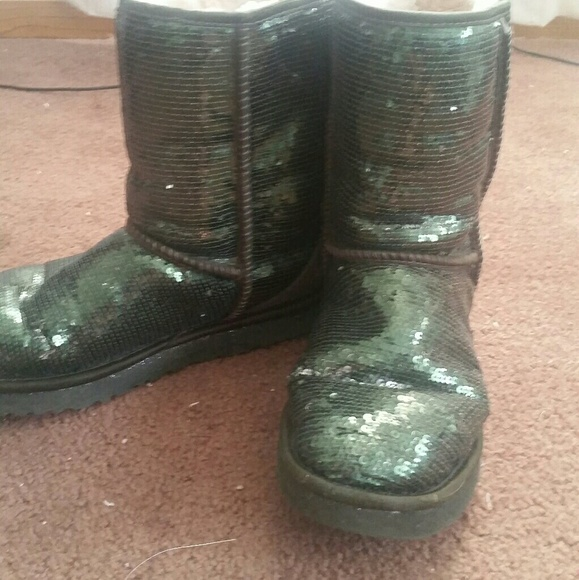 Forest Green Women's Sequin Ugg Boots